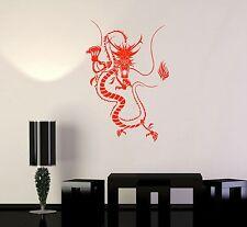 Vinyl Decal Chinese Dragon Fantasy Myth Oriental Decor Wall Stickers (099ig)
