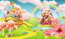 Cream Cottage Rainbow Backdrop Fairytale World Background Photography Studio