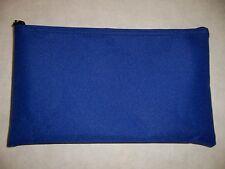 1 Brand New Royal Blue 600 Denier Vinyl Bank Deposit Money Tool Organizer Bag
