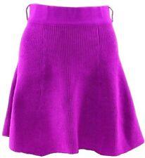 Ladies Flared MINI SKIRT Knitted Fabric Short Skater Handkerchief CERISE Pink