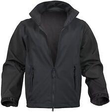 Black Soft Shell Uniform Jacket - 100% Waterproof Lightweight Fall/Winter Coat