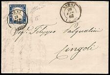REGNO 1863 - 15 c. n. 11 NARNI p. 9, SPL! € 1.450