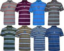 Men Short Sleeve Yarn Dyed Stripe Polo Shirt T- shirt Top Casual M - XXL