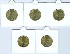BRD  50 Cent ADFGJ  stempelglanz  (Wählen Sie unter: 2002 - 2018)