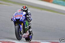 JORGE LORENZO 2015 A2 OR A3 POSTER PHOTO PRINT MOTO GP YAMAHA MOVISTAR AGV