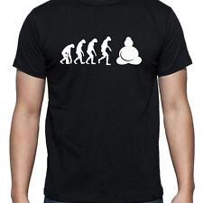 EVOLUTION OF BUDDAH TSHIRT T SHIRT XL XXL XXXL THAI STATUE CHINESE  HEAD LARGE