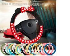 Car Steering Wheel Cover cute Cartoon Universal Interior Accessories Women Style