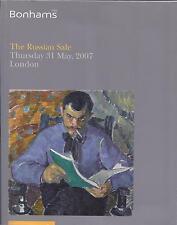 BONHAMS RUSSIAN FABERGE ART PORCELAIN ICON SILVER BURLIUK DOBUZHINSKY Catalog 07
