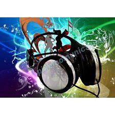 QUADRI MODERNI POSTER ARREDO DESIGN CUFFIE MUSICA POP DJ DISCO