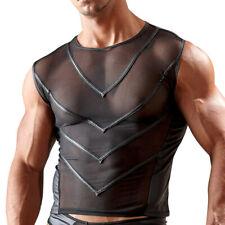 "Sexy Herren Shirt T-Shirt Powernet schwarz glanz S M L XL 2XL ""Carlos"""