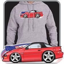 Custom Cartoon Art Hoodie 1996 1997 Chevy Chevrolet Camaro Z28 RS SS V6 LT-1 5.7