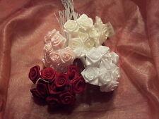 12 Diorröschen Diorrosen Satinröschen Hochzeit , Taufe, Geburt Rosen Farbwahl