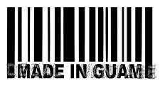 Made In Guam Barcode Vinyl Sticker Decal Islander - Choose Size & Color
