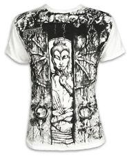 Sure T-shirt meditierender Buddha ruota della vita Lotus Goa tempio M L XL