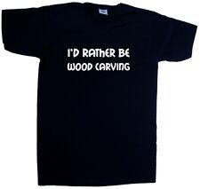 I'd Rather Be Wood Carving V-Neck T-Shirt
