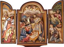 TRITTICO PRESEPE NATIVITA'  -  NATIVITY Triptych Wood carved RELIEF
