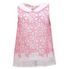 5589R vestito bimba SIMONETTA abito fuxia/bianco dress kid