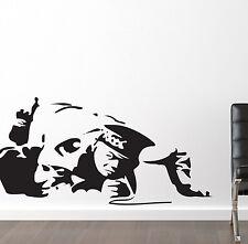 Banksy Style Flic de la cocaïne cuivre autocollant mural décoration vinyle