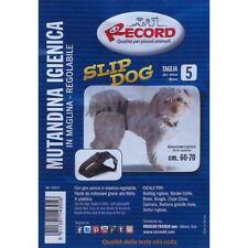 Mutandine igieniche regolabili per cani cintura igienica Nera Slip Dog in stoffa