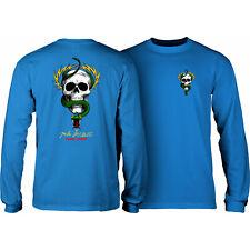 Powell Peralta Skateboard Longsleeve Shirt McGill Skull and Snake Royal
