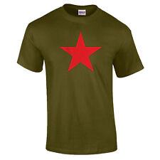 Red Star Retro Russian Soviet Star Communist USSR Political T-Shirt up to 5XL