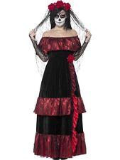 Día de los muertos Novia Disfraz De Halloween Disfraces De Las Señoras Negro