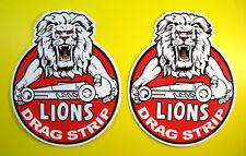 Lions drag strip californie style vintage stickers autocollants x2