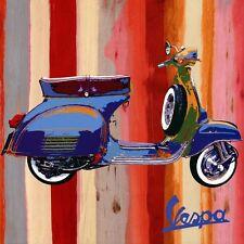 Retro vespa scooter toile wall art poster print lambretta mods vélo