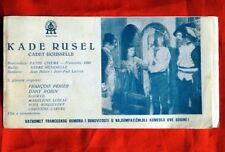 CADET ROUSSELLE BOURVIL 1954 RARE EXYU MOVIE PROGRAM