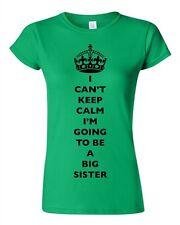 Junior I Can't Keep Calm I'm Going To Be A Big Sister Family DT T-Shirt Tee
