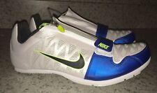 NEW Mens 13 14 15 NIKE Zoom LJ 4 Long Jump Pole Vault Track Field Shoes White