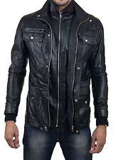★Giacca Giubbotto Uomo in di PELLE 100% Men Leather Jacket Veste Homme Cuir e2ai