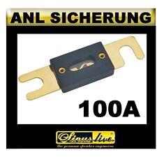Sinuslive ANL Sicherung Streifensicherung 24-Karat vergoldet 100A