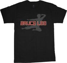 Bruce Lee t-shirt for men silhouette design tee shirt men's black tshirt