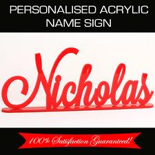 Custom Made Personalised Acrylic Name Sign Wedding Nursery Birthday Gift