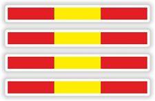 4x España pegatina Stripe Bandera parachoques etiqueta Bicicleta Moto