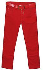 Magen Kids Girls Jeans Stretch Mustard-Blue-Red-Orange-Green-Fuchsia S 6-16