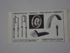 advertising Pubblicità 1970 CERIANI FORCELLE/CERCHI/AMMORTIZZATORI