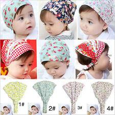Bright Cute Flower Headband Headscarf Bandana Hat For Baby Girls&JB