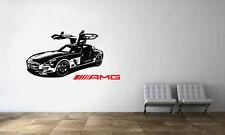 Mercedes-Benz SLS AMG Sport Racing Car Wall Decal Mural Vinyl Sticker
