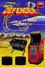 Defender (1981) Retro Game Poster |4 Sizes| MAME Arcade Atari C64 PS4 Xbox PC