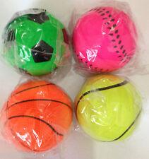 Mini Sports Bounce Ball Baseball Football Basket Ball Tennis Ball 62mm Multi Qty