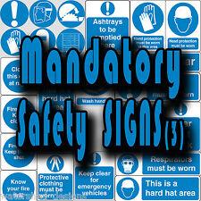 Madatory segnaletica di sicurezza, PPE, chiudi porta, tenere chiaro Vinile Adesivi Murali Segni (3)