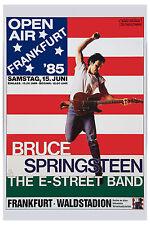 1980's Rock: The Boss: Bruce Springsteen Frankfurt Germany Poster 1985