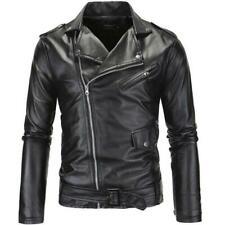 The Walking Dead Negan Leather jacket Mens Casual Cosplay Slim Biker coat Jacket
