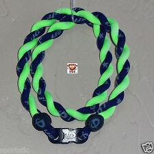 Phiten Tornado Necklace: New Navy/Optic Green Custom