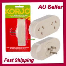 New Korjo Power Travel Plug Adaptor For US/Canada/Mexico From Australia&NZ to US