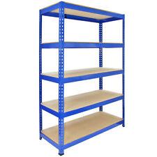 1 Racking Bay 120cm Garage Shelves Storage Warehouse Shelving Unit Steel 5 Tier