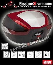 bauletto valigia givi v47 cover colore rosso standard monokey 47LT moto scooter