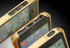 Apple iPhone 5S / 5 Aluminium Bumper | Cover Schutzhülle Case Alu Tasche | gold